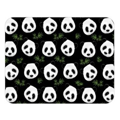 Panda Pattern Double Sided Flano Blanket (large)  by Valentinaart