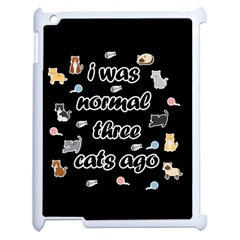 I Was Normal Three Cats Ago Apple Ipad 2 Case (white) by Valentinaart