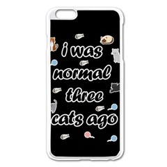 I Was Normal Three Cats Ago Apple Iphone 6 Plus/6s Plus Enamel White Case by Valentinaart