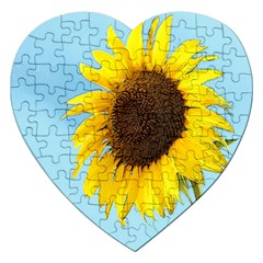 Sunflower Jigsaw Puzzle (heart) by Valentinaart