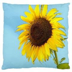 Sunflower Large Cushion Case (one Side) by Valentinaart