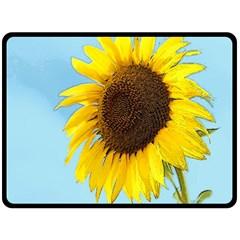 Sunflower Double Sided Fleece Blanket (large)  by Valentinaart