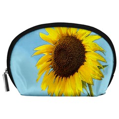 Sunflower Accessory Pouches (large)  by Valentinaart