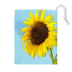 Sunflower Drawstring Pouches (extra Large) by Valentinaart