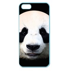 Panda Face Apple Seamless Iphone 5 Case (color) by Valentinaart