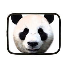 Panda Face Netbook Case (small)  by Valentinaart