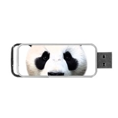 Panda Face Portable Usb Flash (one Side) by Valentinaart