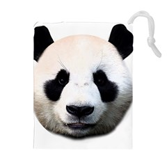 Panda Face Drawstring Pouches (extra Large) by Valentinaart