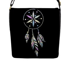 Dreamcatcher  Flap Messenger Bag (l)  by Valentinaart