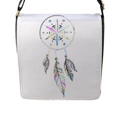 Dreamcatcher  Flap Messenger Bag (l)  by Valentinaart