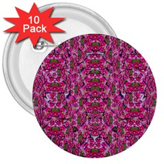 Fantasy Magnolia Tree In A Fantasy Landscape 3  Buttons (10 Pack)  by pepitasart