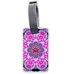 Fantasy Cherry Flower Mandala Pop Art Luggage Tags (one Side)  by pepitasart