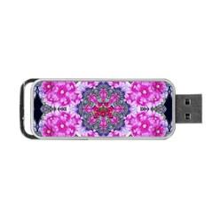 Fantasy Cherry Flower Mandala Pop Art Portable Usb Flash (two Sides) by pepitasart