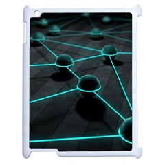 3d Balls Rendering Lines  Apple Ipad 2 Case (white) by amphoto