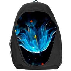Abstraction Light Neon Glitter  Backpack Bag