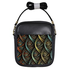 Line Semi Circle Background Patterns  Girls Sling Bags by amphoto