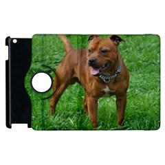 4 Full Staffordshire Bull Terrier Apple Ipad 2 Flip 360 Case by TailWags