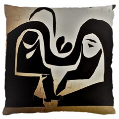 With Love Large Flano Cushion Case (two Sides) by MRTACPANS