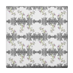 Floral Collage Pattern Tile Coasters by dflcprints