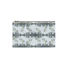 Floral Collage Pattern Cosmetic Bag (small)  by dflcprints