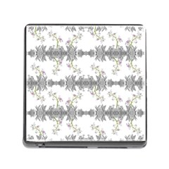 Floral Collage Pattern Memory Card Reader (square) by dflcprints