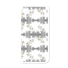 Floral Collage Pattern Apple Iphone 4 Case (white) by dflcprints
