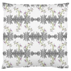 Floral Collage Pattern Large Flano Cushion Case (two Sides) by dflcprints