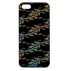 Birds With Nest Rainbow Apple Iphone 5 Seamless Case (black) by ssmccurdydesigns