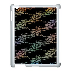 Birds With Nest Rainbow Apple Ipad 3/4 Case (white) by ssmccurdydesigns