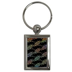 Birds With Nest Rainbow Key Chains (rectangle)  by ssmccurdydesigns