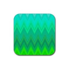 Zig Zag Chevron Classic Pattern Rubber Coaster (square)  by Nexatart