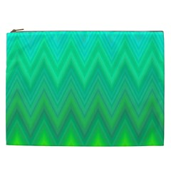 Zig Zag Chevron Classic Pattern Cosmetic Bag (xxl)  by Nexatart