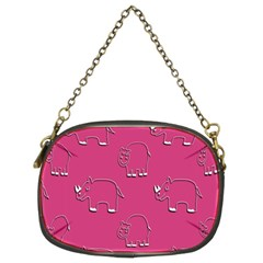 Rhino Pattern Wallpaper Vector Chain Purses (two Sides)  by Nexatart