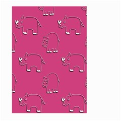 Rhino Pattern Wallpaper Vector Large Garden Flag (two Sides) by Nexatart