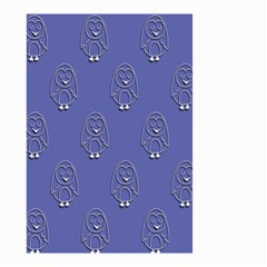 Owl Pattern Wallpaper Vector Small Garden Flag (two Sides) by Nexatart