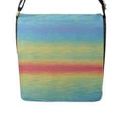 Ombre Flap Messenger Bag (l)  by ValentinaDesign