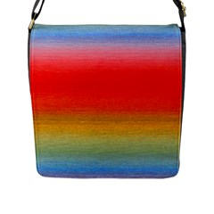 Ombre Flap Messenger Bag (l)  by ValentinaDesign