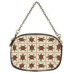 Native American Pattern Chain Purses (one Side)  by linceazul