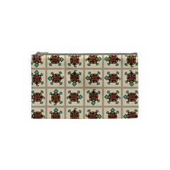 Native American Pattern Cosmetic Bag (small)  by linceazul