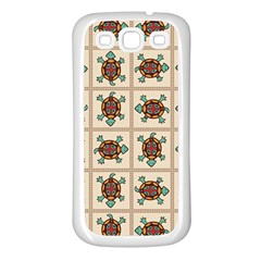 Native American Pattern Samsung Galaxy S3 Back Case (white) by linceazul