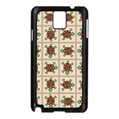 Native American Pattern Samsung Galaxy Note 3 N9005 Case (black) by linceazul