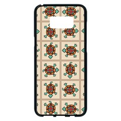 Native American Pattern Samsung Galaxy S8 Plus Black Seamless Case by linceazul