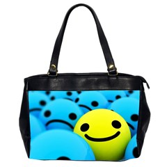 Smile Blue Yellow Bright  Office Handbags (2 Sides)  by amphoto