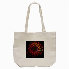 Rainbow Flower Spiral Fractal Tote Bag (cream) by amphoto