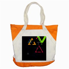 Abstract Triangles Resize Accent Tote Bag by amphoto