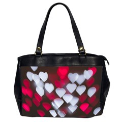 Highlights Hearts Texture  Office Handbags (2 Sides)  by amphoto