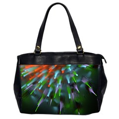 Explosion Rays Fractal Colorful Fibers Office Handbags (2 Sides)  by amphoto