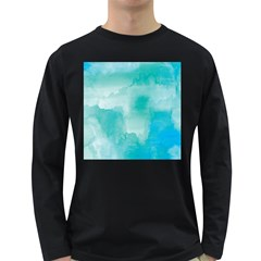 Ombre Long Sleeve Dark T Shirts by ValentinaDesign