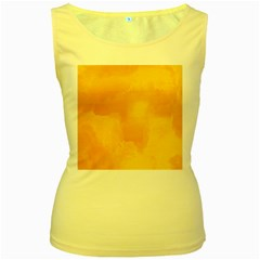 Ombre Women s Yellow Tank Top by ValentinaDesign
