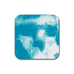 Ombre Rubber Square Coaster (4 Pack)  by ValentinaDesign